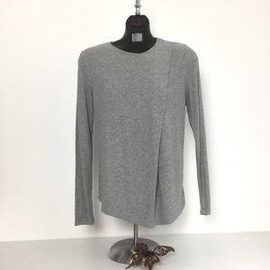 Theory Asymmetrical Pleat Sweater